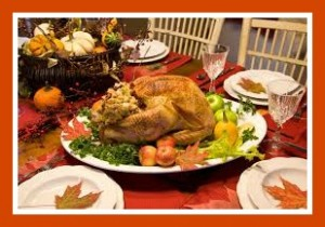 the meal 300x210 Thanksgiving Traditions and Trivia