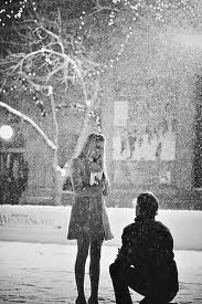 on bended knee December Romantic Proposals